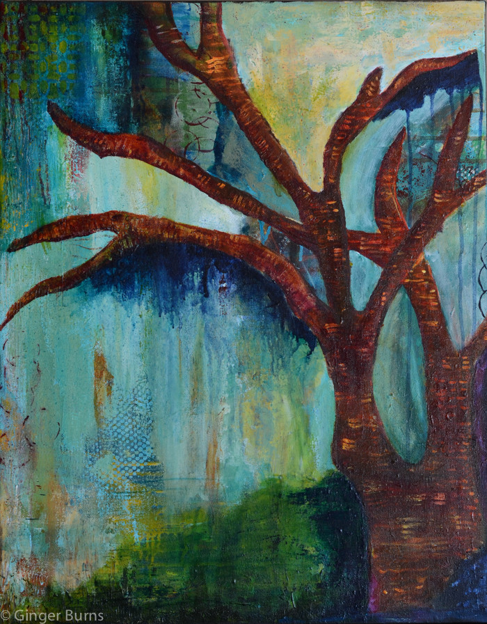 Tree acrylic on canvas painting