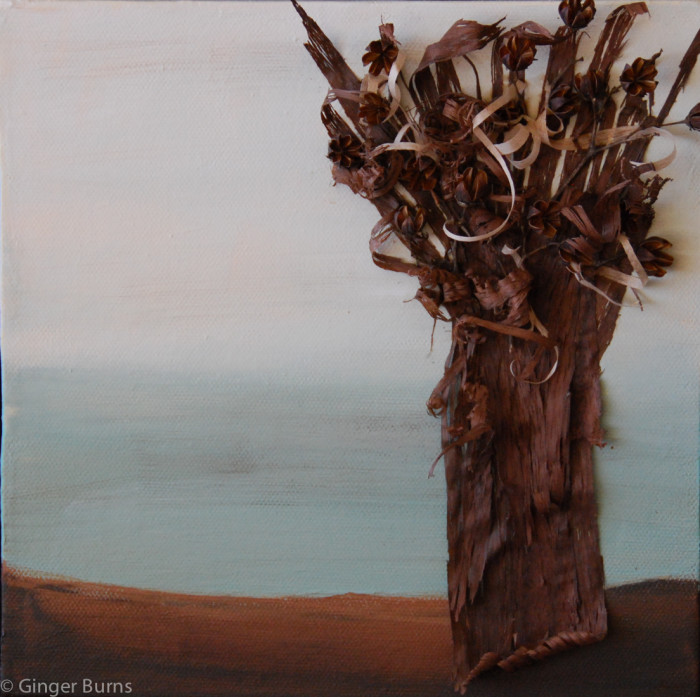 Mixed Media tree painting on canvas, 2010