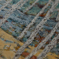 birch trees painting detail