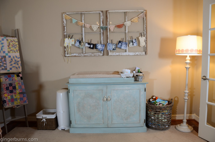 changing table baby girl nursery